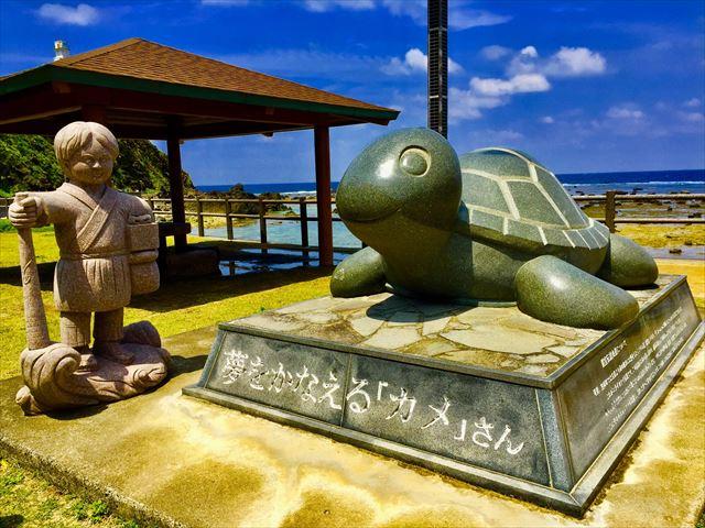 奄美大島 観光スポット 夢をかなえる「カメ」さん