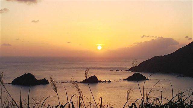 奄美大島 観光スポット 西古見の夕陽
