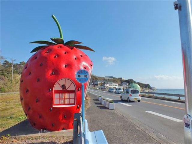 フルーツバス停 井崎