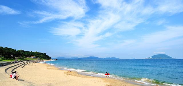 志賀島のビーチ