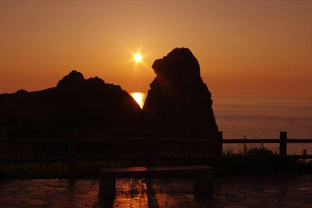 壱岐 観光 猿岩 夕日