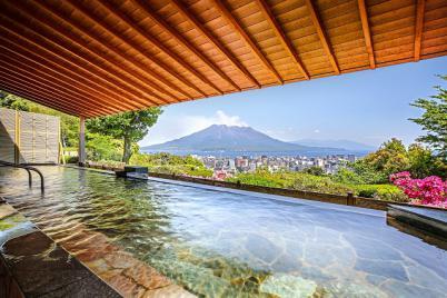 城山観光ホテル 露天風呂 桜島 温泉
