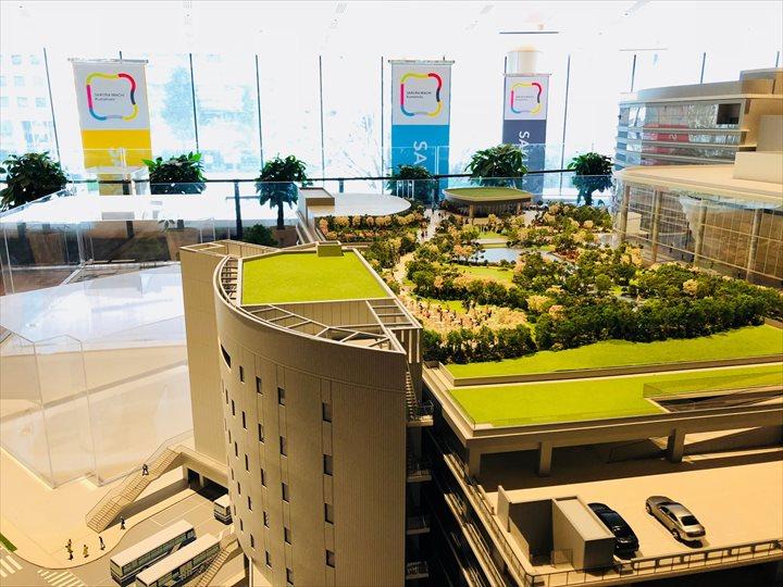 熊本バスターミナル 模型