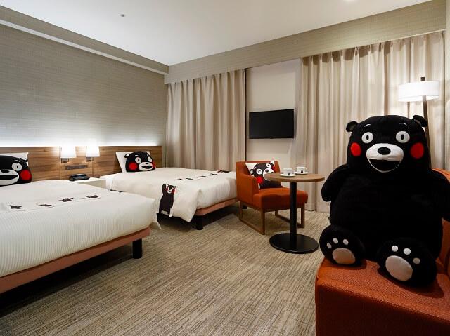 熊本 おすすめホテル 三井ガーデンホテル熊本 くまもん 客室