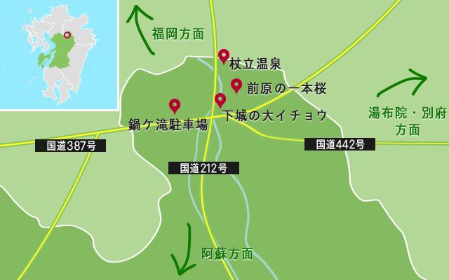 鍋ケ滝周辺の地図