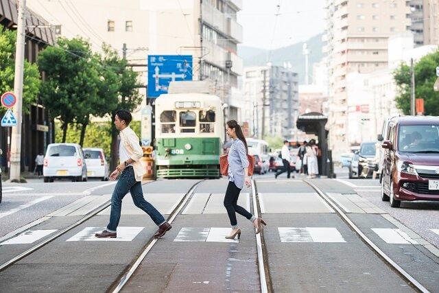 長崎 路面電車 横断