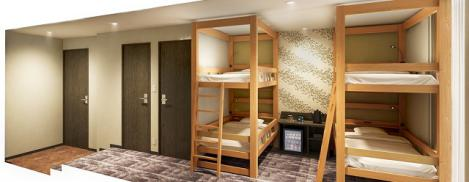 コートホテル福岡天神 2段ベッド