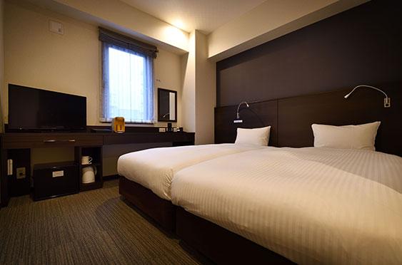 中洲 天神 おすすめ ホテル WBF福岡天神 客室 ハリウッドツイン