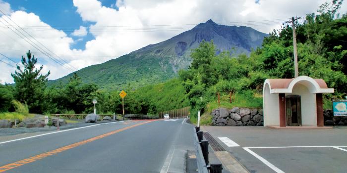 有村溶岩展望所への道