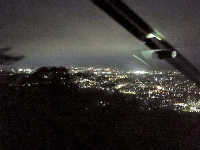 スロープカーから望める夜景