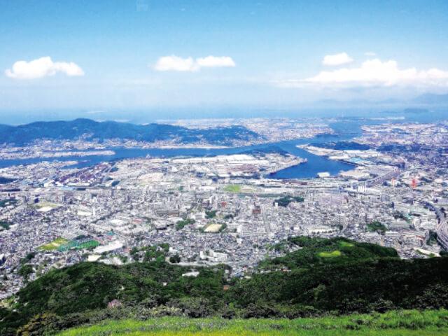 皿倉山 日中の景色