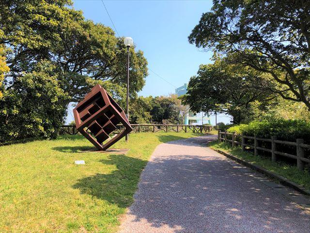 志賀島 潮見公園展望台 鉄のモニュメント